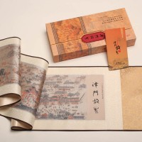 津门故里真丝织绵丝绸画卷图天津特色礼物