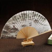 中国风真丝丝绸折扇  企业定制版