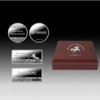 企业周年庆典纯银纪念币 纪念章设计定制 周年礼品纪念礼品 高档礼品送客户