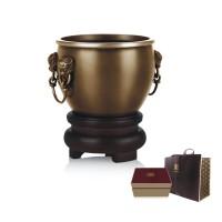 吉祥福海鎏金铜缸高档摆件高档商务礼品送客户礼品