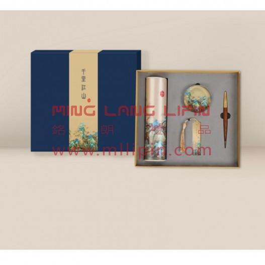 千里江山四件套中国风企业商务礼品外事礼品送老外国礼品公司定制LOGO