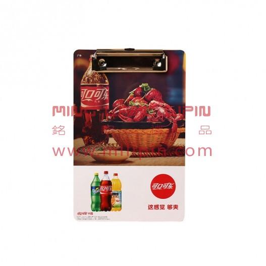 pvc点菜夹 菜谱菜单夹 PVC收银夹定制企业宣传物料定制LOGO