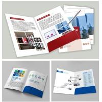 A4企业广告封套文件夹合同书封皮定制印刷定做企业物料宣传资料印刷