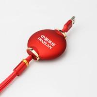 红灯笼伸缩一拖三数据线创意充电器商务礼品展会礼品送客户伴手礼定制
