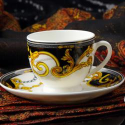 高档两杯两碟艺术咖啡杯碟  圣殿骑士(小)