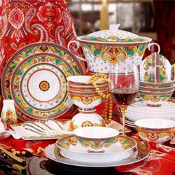 佩斯利/ 高档陶瓷艺术 家瓷餐具