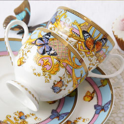 欢乐颂 中国艺术陶瓷 咖啡杯碟四件套
