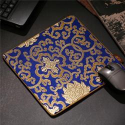 富贵宝花 丝绸鼠标垫 中国文化礼品 政府外事礼品 高档商务礼品