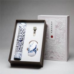 凤凰八宝三件套 无线鼠标、锌合金8GU盘、丝绸鼠标垫