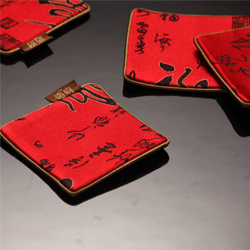 福禄寿禧丝绸杯垫  中国文化礼品 送老外礼品 出国礼品 展会礼品