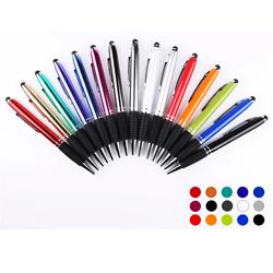 转动触控圆珠笔 触屏金属商务会议广告圆柱笔 可定制企业LOGO