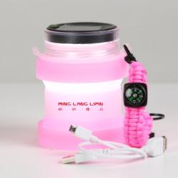 太阳能 创意折叠水杯灯礼品 可调暗 可定制企业LOGO 创意礼品