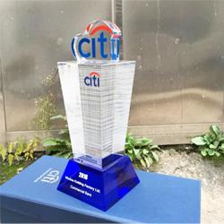 水晶建筑模型纪念品 高档水晶商务会议礼品 企业周年庆典礼品