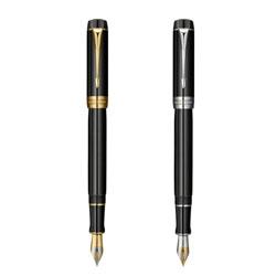 法国派克世纪纯黑金夹18K金双色笔尖钢笔高档商务礼品送客户礼品可定制人名
