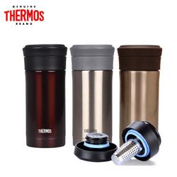 膳魔师泡茶杯带茶隔滤网商务办公男女士不锈钢保温咖啡杯 TCMK-350SBK 不锈钢滤网