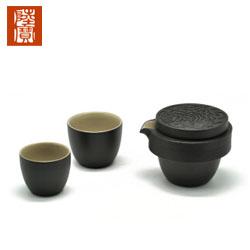 台湾陆宝茶具宝马奔驰红韵金吉旅行茶组 一壶两杯高档商务礼品送领导送领导礼品定制公司