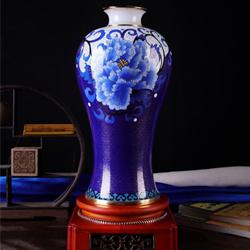 福韵满堂景泰蓝玉石花瓶收藏工艺礼品送领导送老外国礼公司