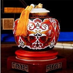四方有余景泰蓝玉石茶叶罐国礼高档收藏纪念礼品送老外礼品公司