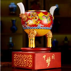 中国梦鼎景泰蓝工艺收藏品送老外送领导外宾珍藏礼品公司