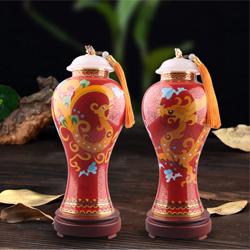 鸿运吉祥景泰蓝对瓶国礼送外宾送领导高档收藏纪念礼品公司