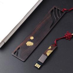 http://www.mllipin.com/繁华紫光檀书签 U盘 中国风商务两件套 外事礼品企业国外展会礼品公司