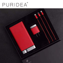 PURIDEA至臻商务礼盒三件套 高档商务礼品送客企业礼品定制LOGO精致数码礼品套
