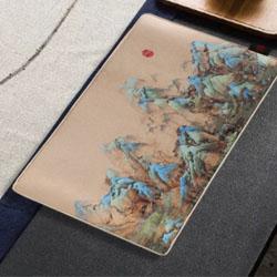 千里江山图多功能丝绸垫中国风外事礼品送老外送外宾礼品定做公司