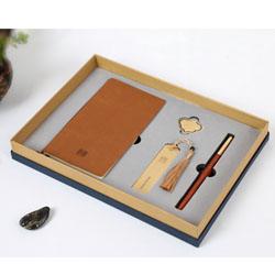 中国风耕读四件套(笔记本+铜书签+立定笔+小如意 ) 文化套装外事礼品定做LOGO