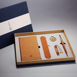 耕读五套装(笔记本+书签+笔套+16gU盘+签字笔)中国风文化礼品外事礼品定做