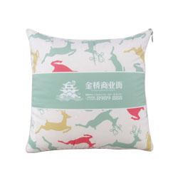 水晶绒抱枕被广告商务活动定做沙发靠垫靠活动礼品会议礼品定制