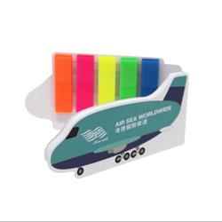 创意硬壳封皮便利贴 卡通飞机轮船便利贴展会礼品商务伴手礼定制